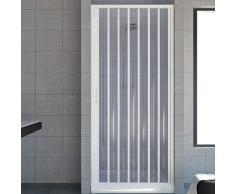 Rollplast Cabine de douche en PVC une partie fixe, ouverture latérale 150 cm