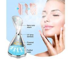 QULiang Steam Face, Nano-Vapeur Facial pour nettoie-Peau hydratante pour Peau de Sinus et Sauna Spa