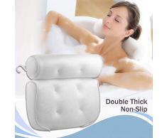 Coussin baignoire Oreiller de Bain avec ventouses, Coussin de bain,Coussin de baignoire en Maille 3D Respirant pour la tête et Le Cou, sadapte à Tous Les Types de Baignoire pour la Maison Jacuzzi Spa