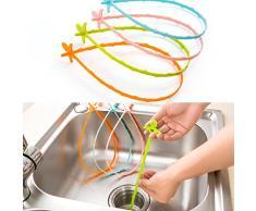 Crochet de nettoyage, décapant de sabot de drain de cheveux et ouvreur de retrait pour la salle de bains et la baignoire Dispositif de drague Petits outils Outil de nettoyage de toilette d'égout