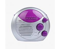 Radio de douche - SAYIN AM radio FM de douche, radio etanche pour salle de bains, suspendus Radio de musique Violet