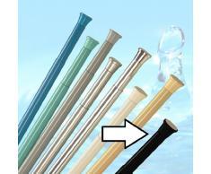 barre pour rideau de douche noir 70 - 110 cm barre de douche barre avec bornes ALU = qualité excellente