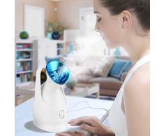 WFZGZ Vapeur Visage Nano Vaporisateur Facial Sauna Spa Facial Soins Esthétiques de Peau pour Nettoyage en Profondeur Pores Point Noir Visage Steamer Humidificateur,Bleu