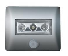 OSRAM Eclairage LED avec détecteur de mouvement Nightlux Eclairage de nuit LED / capteur de luminosité / pivotant fonctionnement à pile lumière du jour - 7000K argent