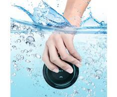 Guzack Douche Enceinte Bluetooth étanche - Certifié étanche Bluetooth 3.0 avec haut-parleur Neuftech Radio FM Douche Président, 6hrs Time, ventouse dédié, micro intégré, mains libres (Noir + Bleu)