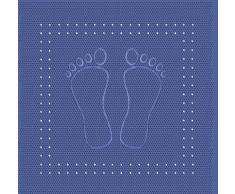 Kleine Wolke 4388720002 Foot Tapis de Douche en PVC Bleu 55 x 55 cm
