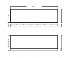 Hudson Reed - Panneau Frontal de Tablier pour Baignoire Rectangulaire 170 x 55cm - MDF Blanc