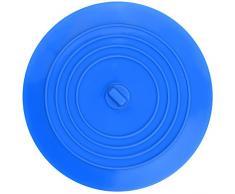Silicone Baignoire Bouchon pour les Cuisines, Salles de Bains et Blanchisseries,6 Pouces (Bleu)