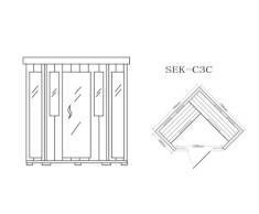 Trade-Line-Partner Cabine de sauna infrarouge Pour 4 personnes