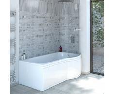 Hudson Reed - Baignoire Asymétrique Angle Droit 150 x 80cm Acrylique 215L