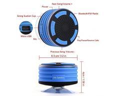 Enceinte portable Bluetooth Haut-parleur de douche étanche Mètre W/5 W son HD, Super Bass, haut-parleur mains libres, radio FM