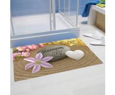 Papillon « Harmonie » Super Absorbant Tapis de salle de bain, Polyester, multicolore, 60 x 40 cm