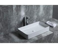 SFINO RT6034 - Starbath - Vasque à poser en céramique. Lavabo pour salle de bain 60 x 34 x 12 cm