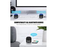Enceinte Bluetooth Portables, BassPal Petit Haut-ParleurSans Fil avec Radio, Étanche IPX5, HD Stéréo Son et Basses Améliorées, Mini Format de Poche pour Douche de Voyage à Domicile Pool - 1 Pack