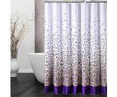 QEWA® Rideaux de rideau de douche Tissu en polyester Imprimé imperméable à l'eau et à la vapeur Home Bathroom Rideau de douche avec crochet , 150*200cm