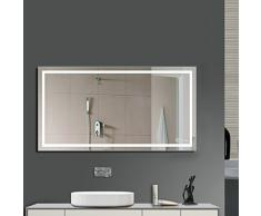 GOGO GO Miroir LED Orthogone 100*60CM 23W Lumineux de Salle de Bain Eclairage Intérieur Avec Commutateur de Côté Lumière Blanc Froid 6000K