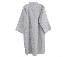 Unisexe Peignoir de Bain Douche Coton Robe de Chambre Kimono Homme Femme Chemise Vêtement de Nuit Confortable Pyjamas Yukata Lâche pour Hôtel Spa Maison Natation Khan Vapeur Sauna avec Poche Ceinture