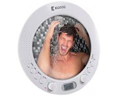 Radio de douche AM/FM avec miroir