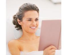 Relaxdays Oreiller de relaxation pour baignoire Coussin de nuque Appui-tête salle de bain 8 ventouses - blanc