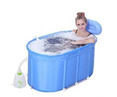 FACAI888 Stents bleu ovale en acier inoxydable pliante baignoire baril Kit Machine bulle