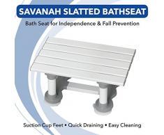 Homecraft Savanah Siège de bain à Lattes,30,5 cm, pour lindépendance et la prévention des chutes, Chaise de douche avec lattes pour sasseoir dans la baignoire