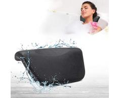 Coussin de Bain, ESSORT Oreiller de Baignoire Imperméable baignoire pour un séchage rapide et facile, Soutien pour la Tête, le Cou et le Dos, Noir