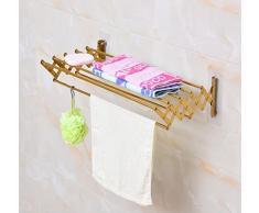 Gquan Porte-serviette Salle de bains en acier inoxydable lépaississement de la poignée de porte-serviettes chauffant
