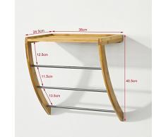porte serviette bois acheter porte serviette bois en ligne sur livingo. Black Bedroom Furniture Sets. Home Design Ideas