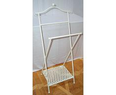 Porte-serviette pliable, shabby, la nostalgie Serviette Support fer blanc