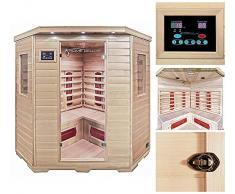 Home Deluxe redsun XXL Sauna infrarouge | avec accessoires et accessoires