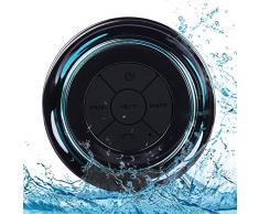 Enceintes Portables Bluetooth, Haut-Parleur Bluetooth sans Fil, Étanche Radios de Douche, Haut-parleur Portable avec FM radio, Waterproof IPX7+ 8 Heures Lecture, paires à tous les appareils Bluetooth