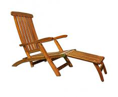 Chaise longue - transat pliable en bois d acacia bain de soleil Queen Mary a454e0141d0e