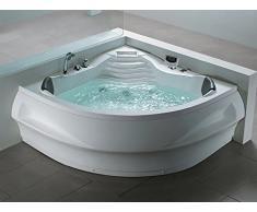 Baignoire d'angle - baignoire balnéo / whirlpool - hydromassage & chromothérapie - Monaco