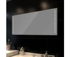 Miroir de salle de bain avec éclairage LED 100 x 60 cm(L x H)
