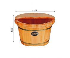 Yaltol Baignoire Domestique Foot Bath Pied Barrel Foot Massage Bassine Bois Foot Bath Bain De Pieds Bois Cuve De Lavage De Pied En Bois Epaissir Un Baril De Pedicure En Bois Massif Baignoires