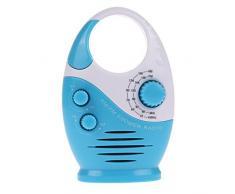 Domybest Mini AM FM Radio de Douche à Suspendre de Salle de Bain étanche Musique Radio 3 Couleurs Bleu