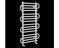 Hudson Reed - Sèche-Serviettes Radiateur Porte Serviettes - Serpentin Style Original Design Moderne - Finition Chromée 900 x 510mm - 313W - Chauffage Central Eau Chaude - Pose Murale