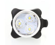 Lampe Torche Frontale à LED/Eclairage Avant Vélo 3LEDs Super Lumineux Built-in Batterie Rechargeable Blanc Lumières Rechargeable étanche Antichoc de 4 Modes de Lumière