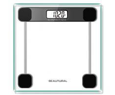 Beautural Precision Pèse-personne numérique Balance de Précision Digitale Pèse-Personne de Salle de Bains avec 2 piles Ecran Rétro-Eclairé Step On Poids Maximum Supporté 180KG/400LB