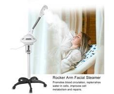 Support facial pour vapeur, Beauté Professionnelle Beauté Aromatique Vapeur Sauna pour le visage Sauna facial avec bras oscillant stérilisant pour l'ozone pour soins de la peau