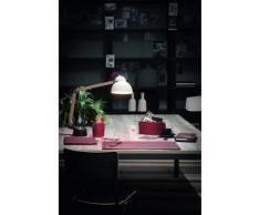 BRANDO 4: Parure de bureau 4 pièces en cuir, couleur Bordeaux, set de bureau complet, bureau secrétaire, base Antidèrapant, Made in Italy