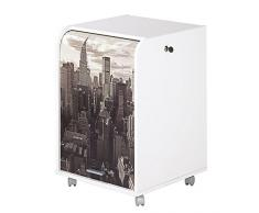 Caisson mobile à rideau - ORGA 70 - New-York / Buildings - Blanc