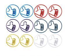 MoGist Lot DE 12 Trombones de Bureau en métal Motif Poule Multicolore