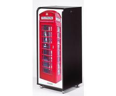 Caisson mobile à rideau - ORGA 110 - London - Cabine téléphonique - Noir