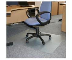 JVL Tapis sous chaise protège-sol en vinyle Rectangulaire