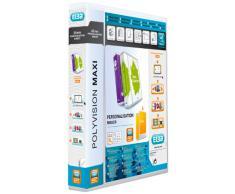 Elba Polyvision Maxi Classeur à anneaux personnalisable dos 40mm capacité 200 feuilles A4XL Incolore