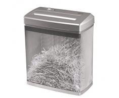 """Hama Destructeur de documents """"Premium X6M"""" (jusqu'à 7 feuilles, coupe en travers, déchiqueteuse de papier, documents, plastique, cartes de crédit, panier en métal de 14 litres, destructeur) Argent"""