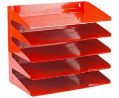 Avery Corbeille à courrier 5 étages Acier Rouge (Import Royaume Uni)