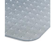 Tapis protège-sol 100% polycarbonate avec languette | 75x120cm | protection moquette