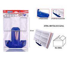MP PC911A - Lutrin de bureau métallique, bleu